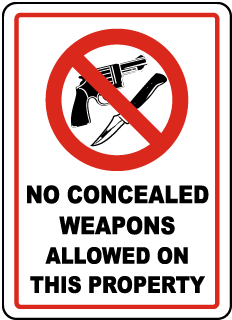 no guns allowed sign ccw permit