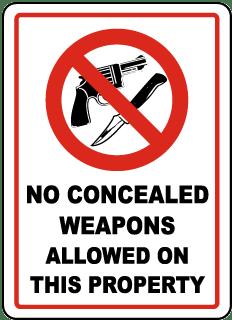 no guns allowed sign ccw permit